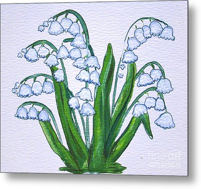Lily-of-the-valley In Full Glory Metal Print by Leea Baltes