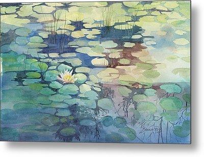 Lily Pond I Metal Print