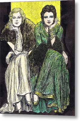 Lilyan And Kay Metal Print by Mel Thompson
