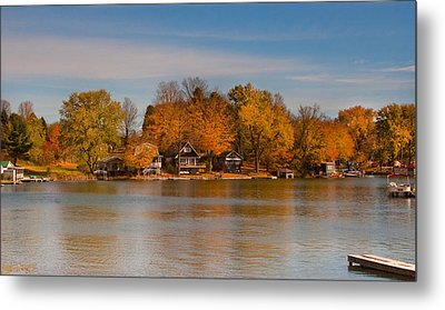 Lime Lake Metal Print