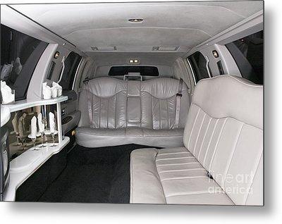 Limousine Interior Metal Print by Andersen Ross