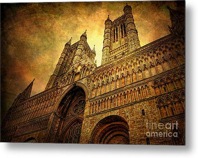 Lincoln Cathedral Metal Print by Yhun Suarez
