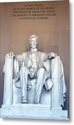 Metal Print featuring the photograph Lincoln Memorial 001 by George Bostian