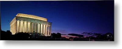 Lincoln Memorial At Sunset Metal Print