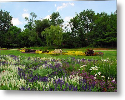 Metal Print featuring the photograph Lincoln Park Gardens by Lynn Bauer