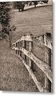 Lines Bw Metal Print by JC Findley