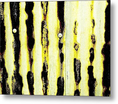 Lines Of Rust Metal Print by Jason Michael Roust