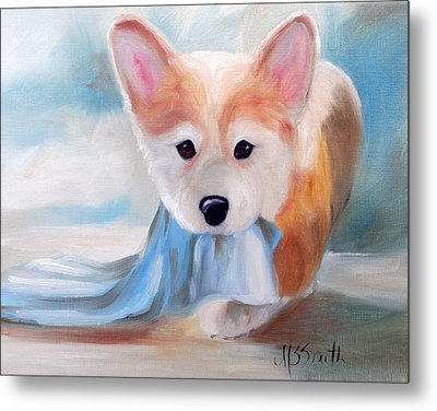 Linus And His Blanket Metal Print by Mary Sparrow