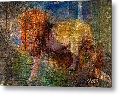 Lion Metal Print by Arline Wagner