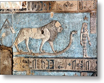Lion At Dendera, Egypt Metal Print by Joe & Clair Carnegie / Libyan Soup