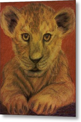Lion Cub Metal Print by Christy Saunders Church