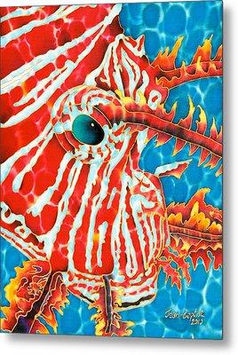 Lion Fish Face Metal Print by Daniel Jean-Baptiste
