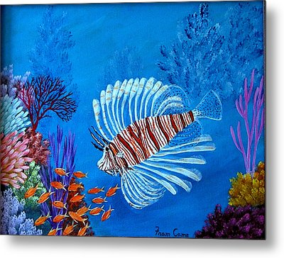 Lion Fish Metal Print by Fram Cama