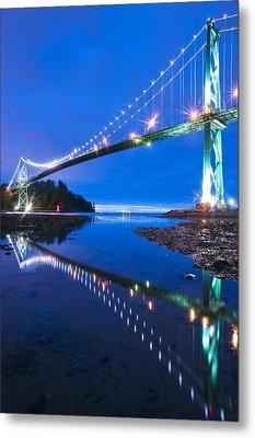 Lions Gate Bridge, Vancouver, Canada Metal Print by David Nunuk