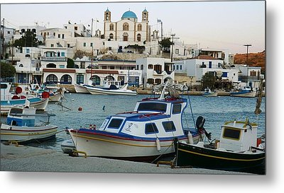 Metal Print featuring the photograph Lipsi Harbour by Therese Alcorn