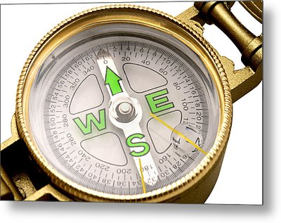 Liquid Filled Lensatic Compass Metal Print by Fabrizio Troiani