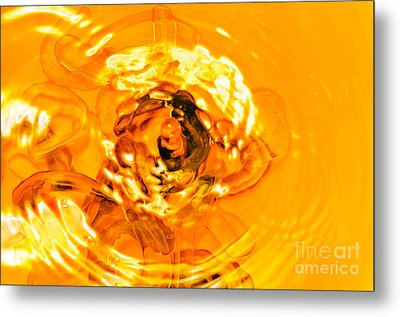 Liquid Gold Metal Print by Andee Design
