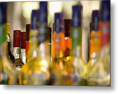 Liquor Bottles Metal Print by Shannon Fagan