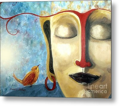 Metal Print featuring the painting Listen To The Light by Susan Fisher