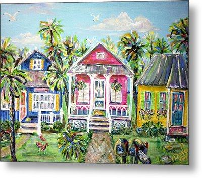 Little Beach Houses Metal Print by Doralynn Lowe