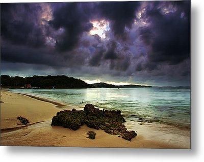Metal Print featuring the photograph Little Beach Sunset by Paul Svensen