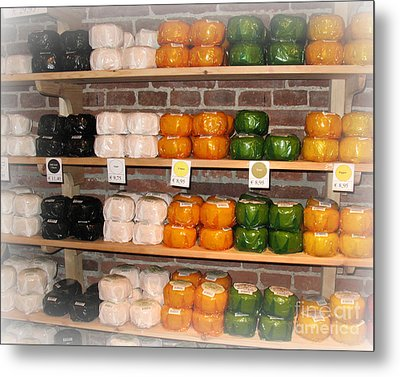 Little Cheeses On A Shelf In Amsterdam Metal Print by Trude Janssen