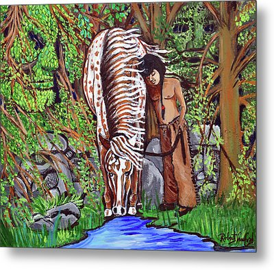 Little Eagle And Thunder Metal Print by Bob Crawford