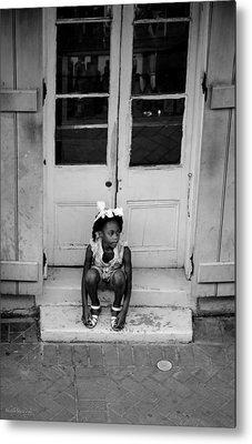 Metal Print featuring the photograph Little Girl Waiting by Shelly Stallings