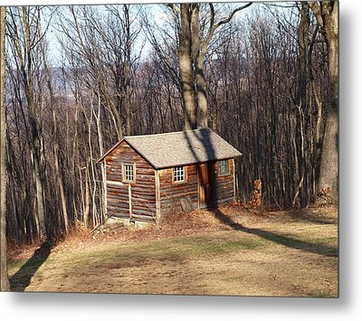 Little House In The Woods Metal Print by Robert Margetts