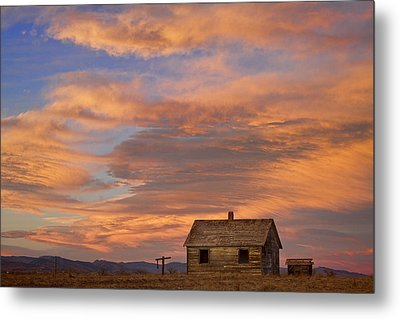 Little House On The Colorado Prairie Metal Print by James BO  Insogna
