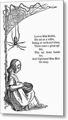 Little Miss Muffet Metal Print by Granger
