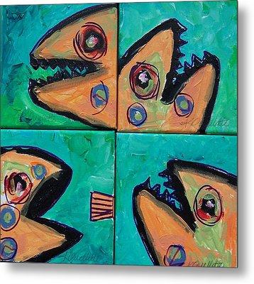 Little Orange Fish Metal Print