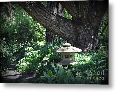 Little Pagoda Under The Big Tree Metal Print by Tanya  Searcy