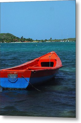 Metal Print featuring the photograph Little Red Boat by Sandy Fisher