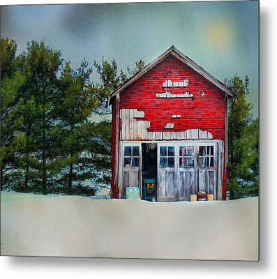 Metal Print featuring the photograph Little Red Shed by Mary Timman