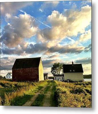 Little Tancook Island Farmhouse Metal Print by Luke Kingma