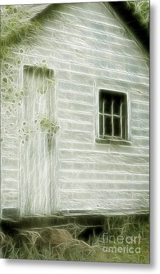 Little White Building Onaping Metal Print by Marjorie Imbeau