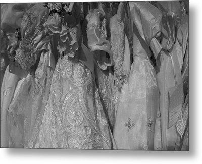 Little White Dresses Metal Print by Anna Villarreal Garbis