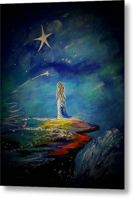 Little Wishes One Metal Print by Leslie Allen