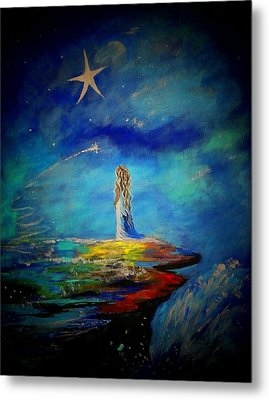 Little Wishes Too Metal Print by Leslie Allen