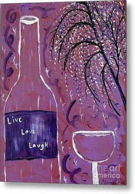 Live Love Laugh Wine Metal Print