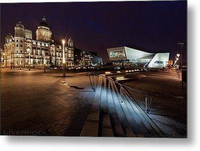 Liverpool - The Old And The New  Metal Print by Beverly Cash