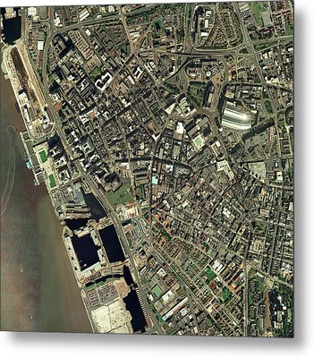 Liverpool, Uk, Aerial Image Metal Print by Getmapping Plc