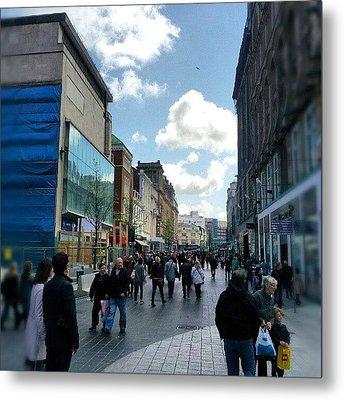 #liverpool #uk #england #street #market Metal Print