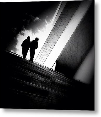 Living Between The Lines - Concrete Metal Print