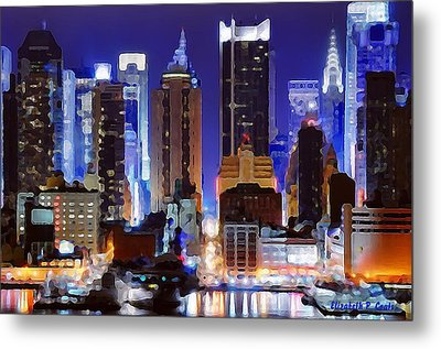 Living For The City Metal Print by Elizabeth Coats