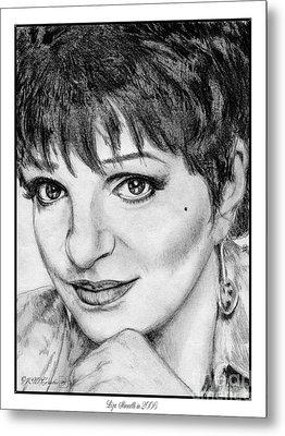 Liza Minnelli In 2006 Metal Print by J McCombie