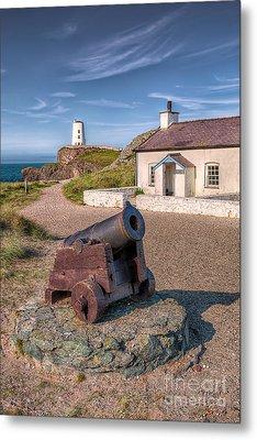 Llanddwyn Cannon Metal Print by Adrian Evans