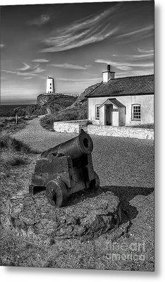 Llanddwyn Cannon V2 Metal Print by Adrian Evans
