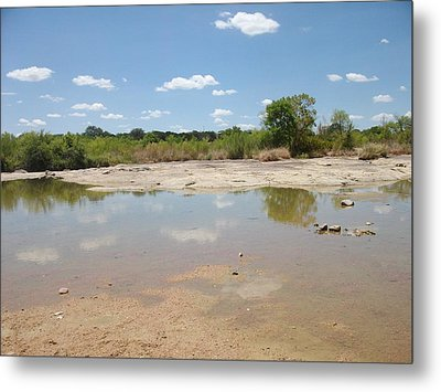 Metal Print featuring the photograph Llano River 'the Slab' by Elizabeth Sullivan